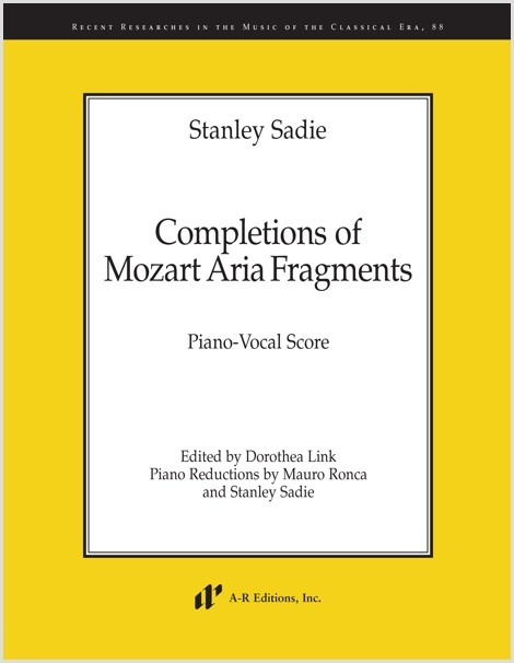 Sadie: Completions of Mozart Aria Fragments (KV)