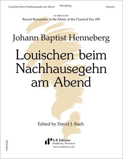 Henneberg: Louischen beeim Nachhausegehn am Abend