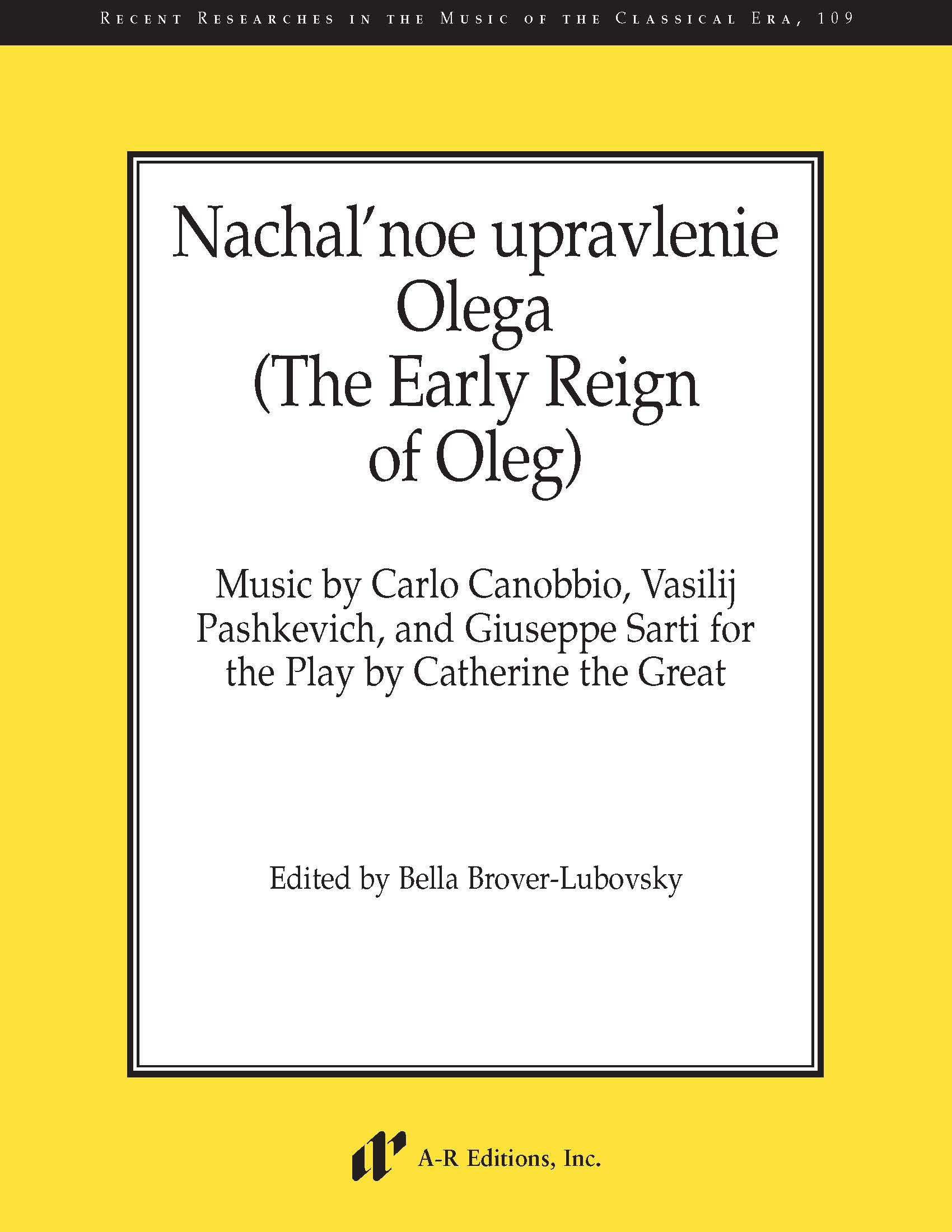 Nachal'noe upravlenie Olega (The Early Reign of Oleg)