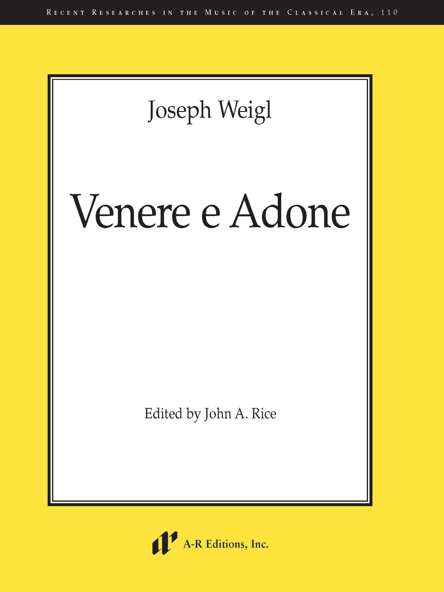Weigl: Venere e Adone