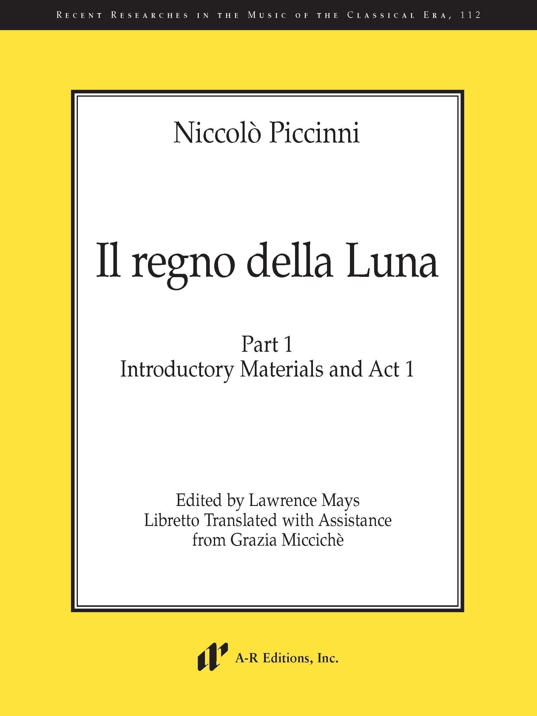Piccinni: Il regno della Luna, Part 1
