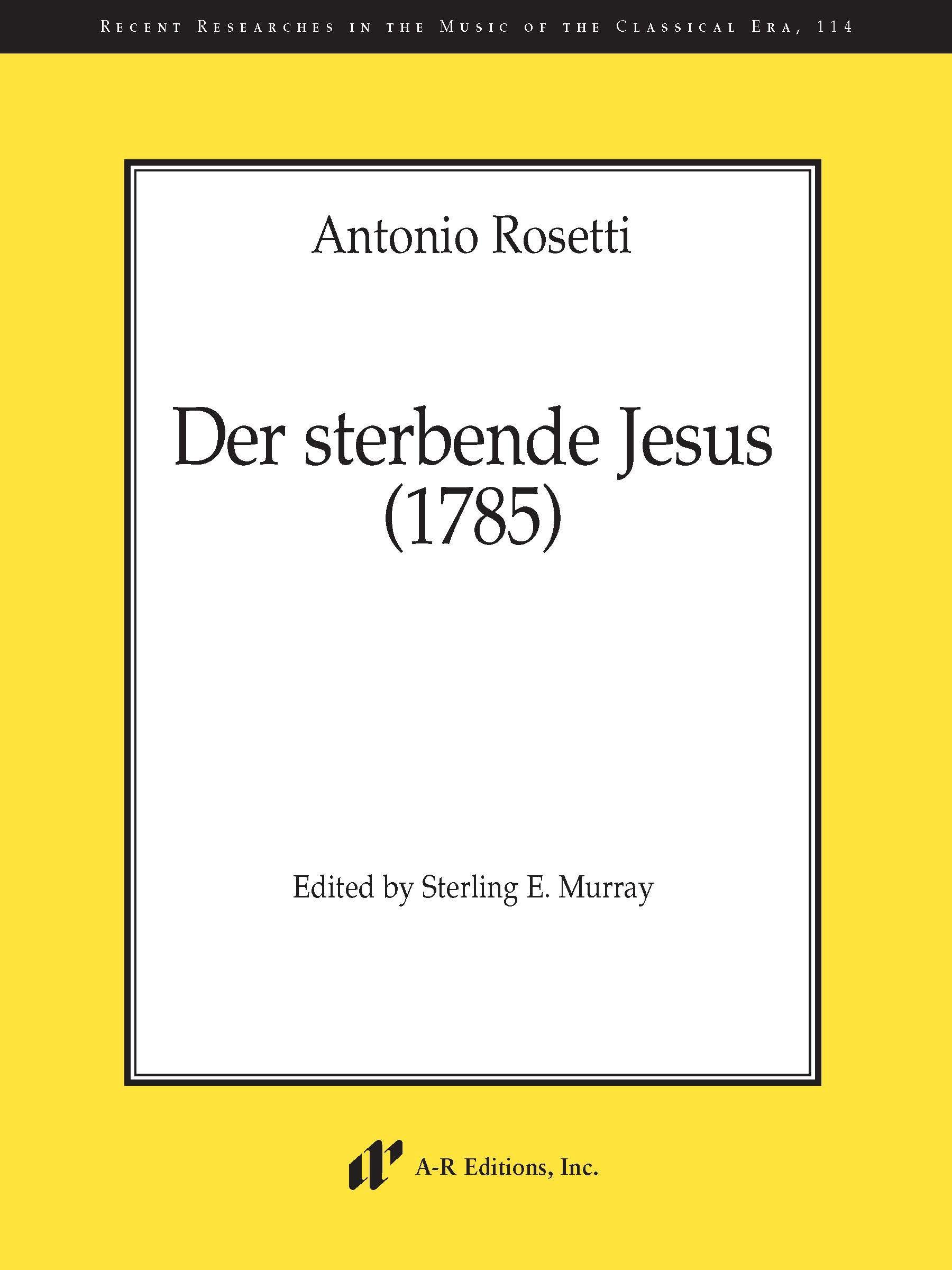 Rosetti: Der sterbende Jesus (1785)