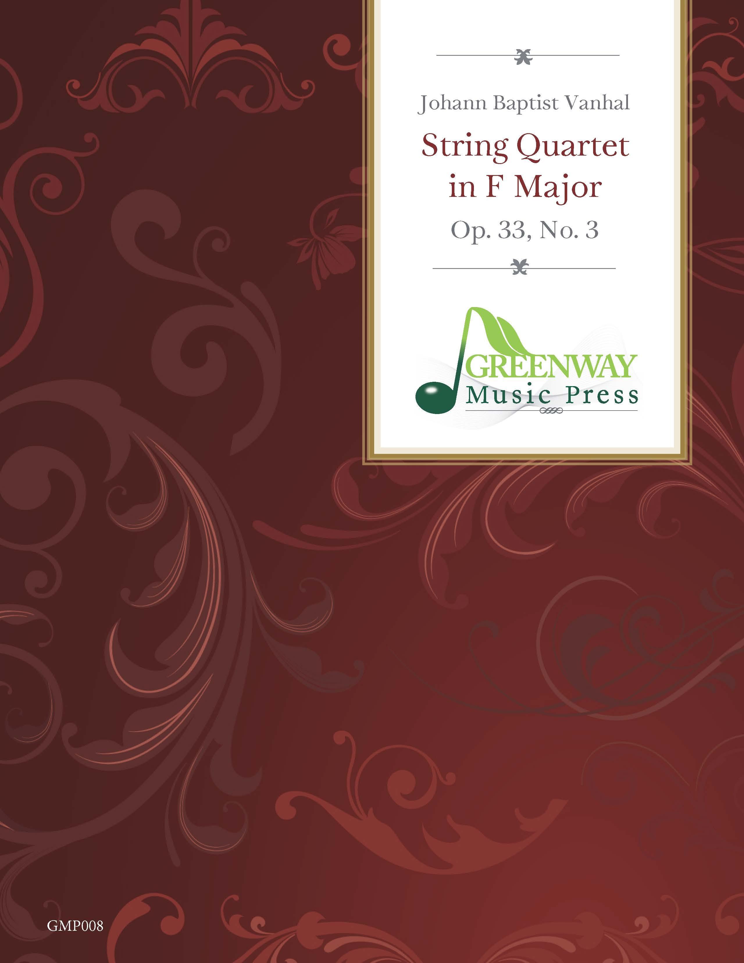 Vanhal: String Quartet in F Major, Op. 33, No. 3