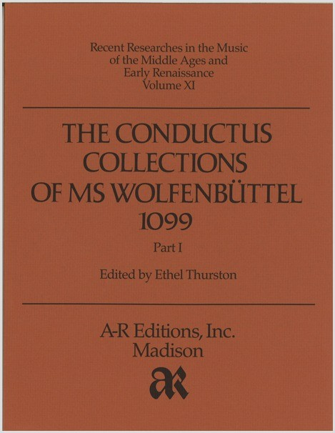 The Conductus Collections of MS  Wolfenbüttel 1099