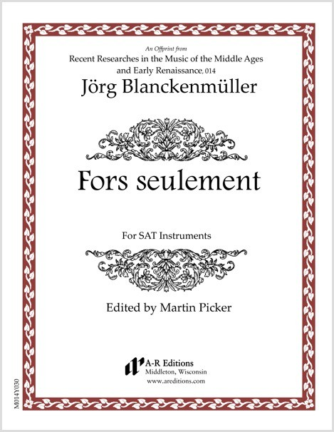 Blanckenmüller: Fors seulement