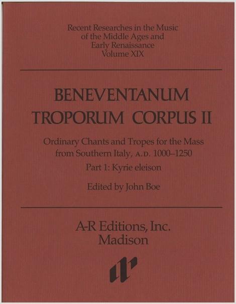 Beneventanum Troporum Corpus II, Part 1a