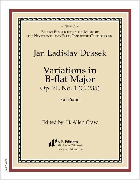 Dussek: Variations in B-flat Major