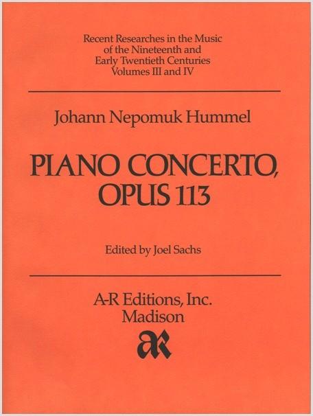 Hummel: Piano Concerto, Op. 113