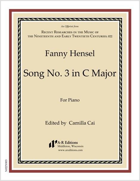 Hensel: Song No. 3 in C Major