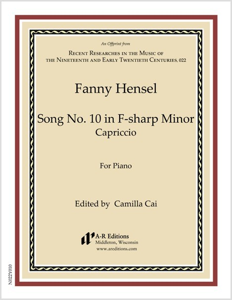Hensel: Song No. 10 in F-sharp Minor