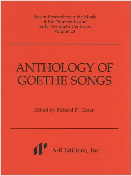 Anthology of Goethe Songs