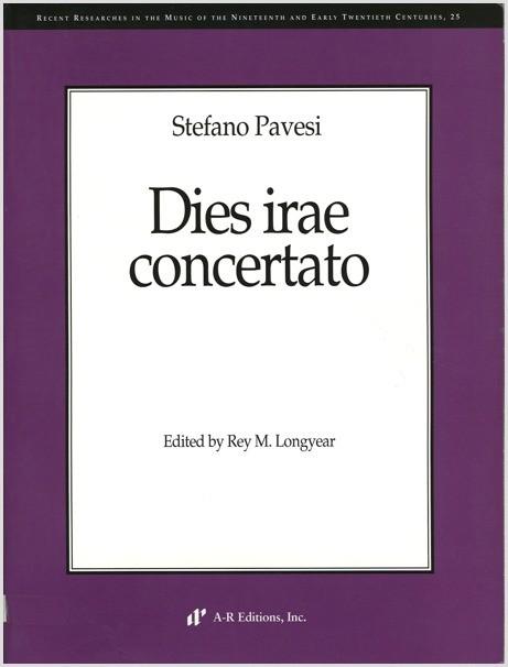 Pavesi: Dies irae concertato