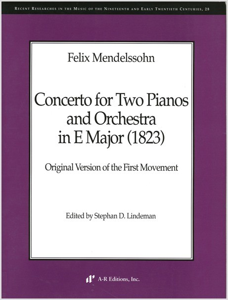 Mendelssohn: Concerto for Two Pianos and Orchestra in E Major (1823)