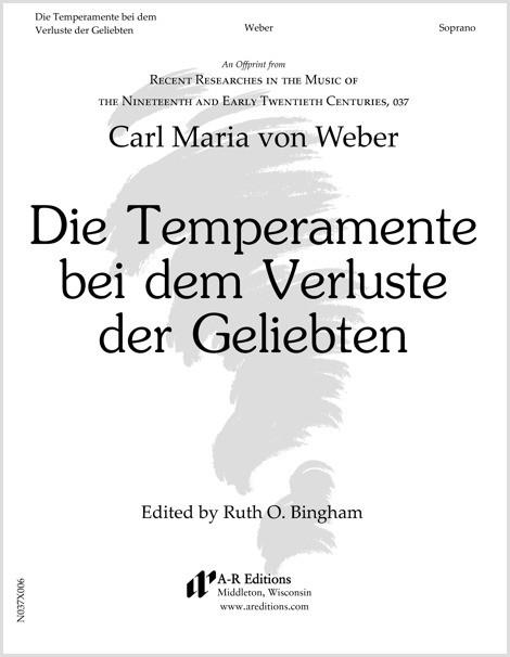 Weber: Die Temperamente bei dem Verluste der Geliebten