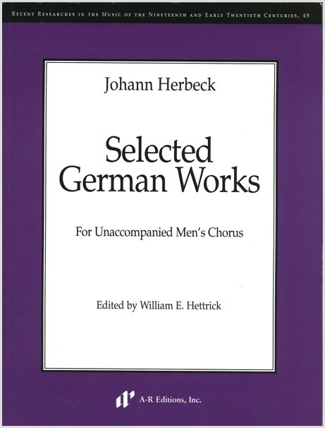 Herbeck: Selected German Works, Part 1