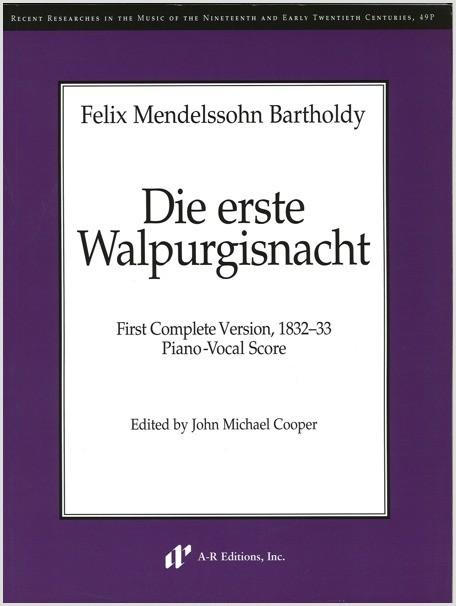 Mendelssohn: Die erste Walpurgisnacht (PV)