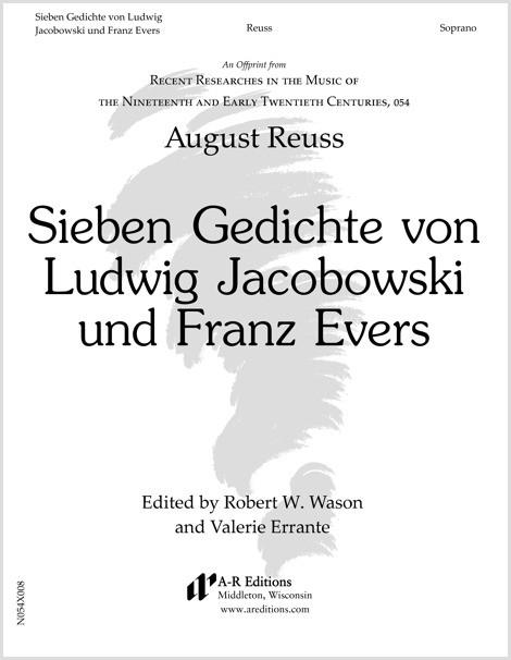 Reuss: Sieben Gedichte von Ludwig Jacobowski und Franz Evers