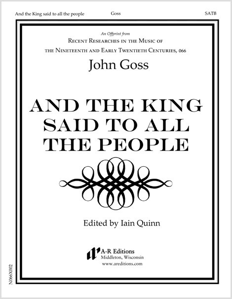 Goss: And the King said to all the people
