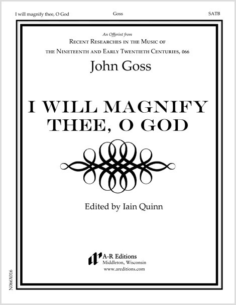 Goss: I will magnify thee, O God