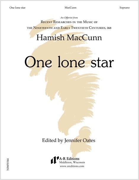 MacCunn: One lone star