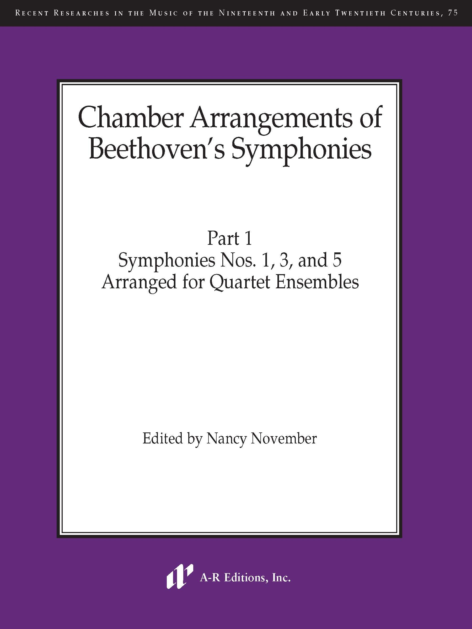 Chamber Arrangements of Beethoven's Symphonies