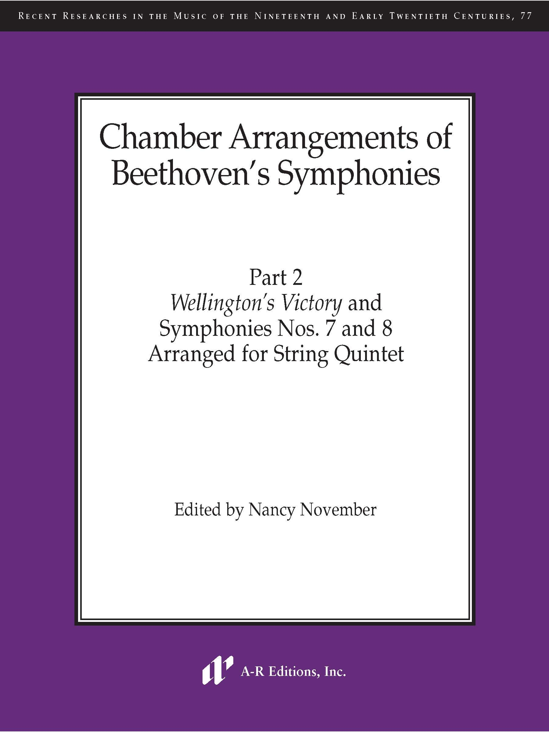 Chamber Arrangements of Beethoven's Symphonies, Part 2