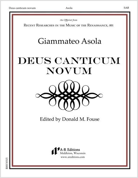 Asola: Deus canticum novum