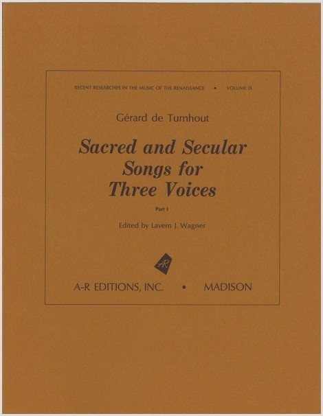 Turnhout: Sacred and Secular Songs for Three Voices, Part 1