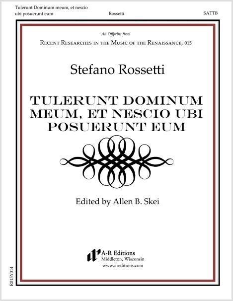 Rossetti: Tulerunt Dominum meum, et nescio ubi posuerunt eum