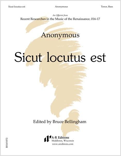 Anonymous: Sicut locutus est
