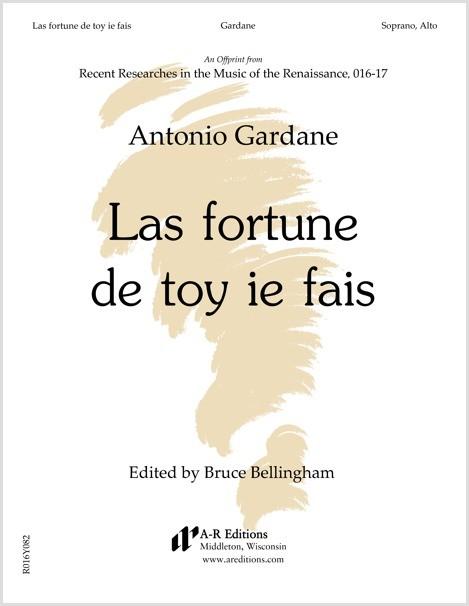 Gardane: Las fortune de toy ie fais