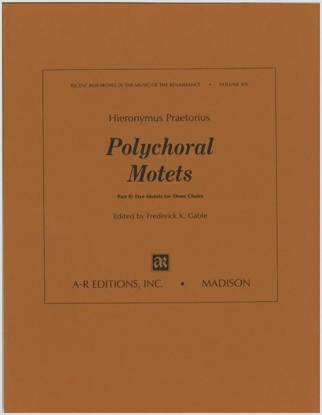 Praetorius, H.: Polychoral Motets, Part 2