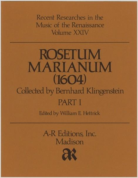 Rosetum Marianum (1604), Part 1