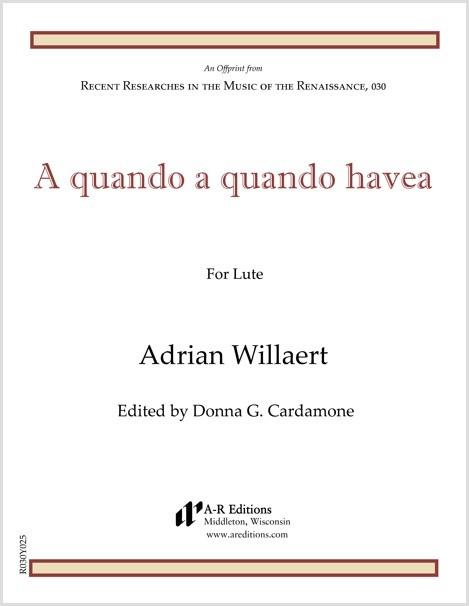 Willaert: A quando a quando havea
