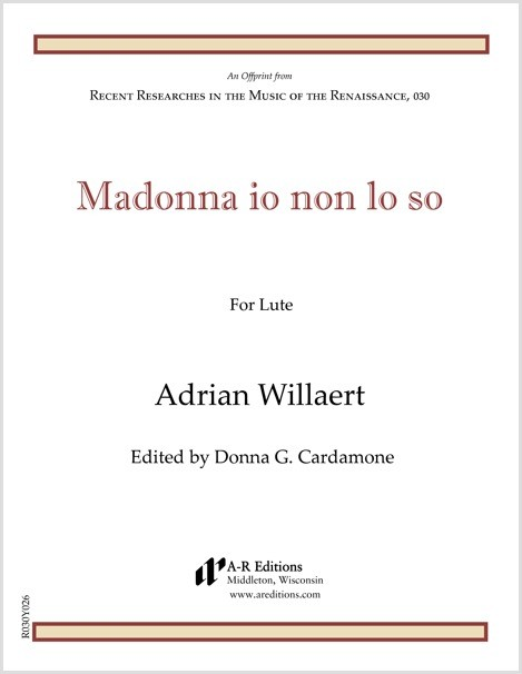 Willaert: Madonna io non lo so