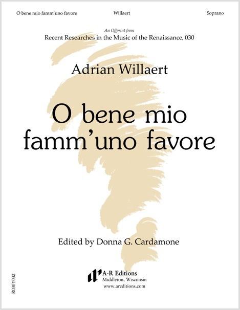 Willaert: O bene mio famm'uno favore