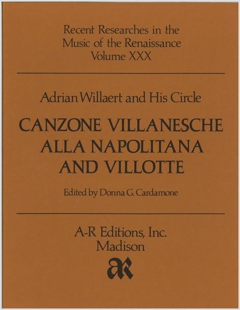 Willaert, et al.: Canzone villanesche and Villotte