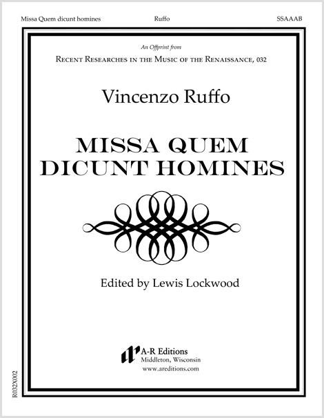 Ruffo: Missa Quem dicunt homines