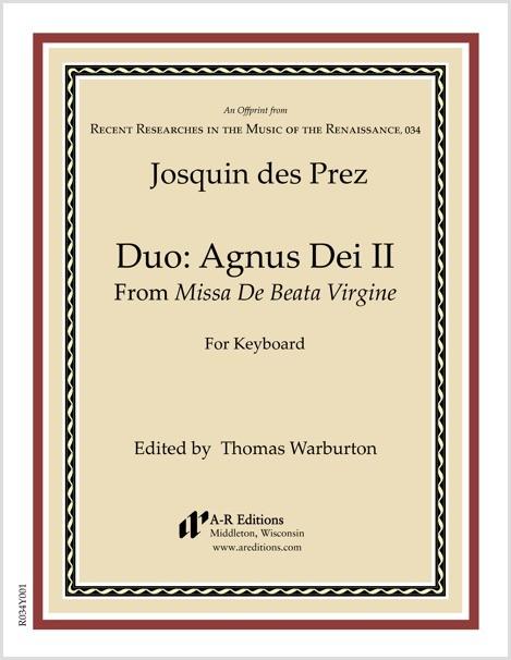 Josquin des Prez: Duo: Agnus Dei II