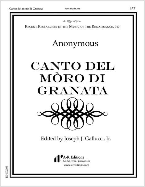 Anonymous: Canto del mòro di Granata