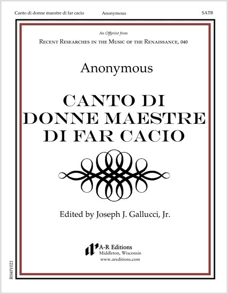 Anonymous: Canto di donne maestre di far cacio