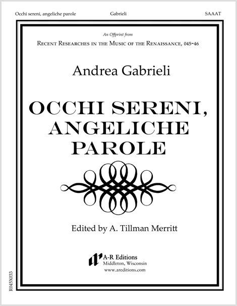 Gabrieli: Occhi sereni, angeliche parole