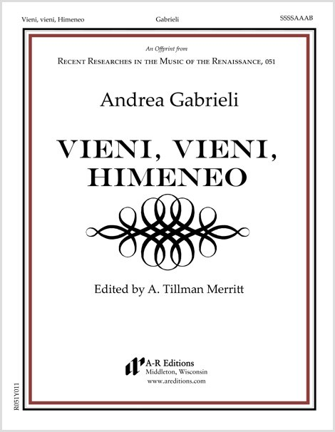 Gabrieli: Vieni, vieni, Himeneo