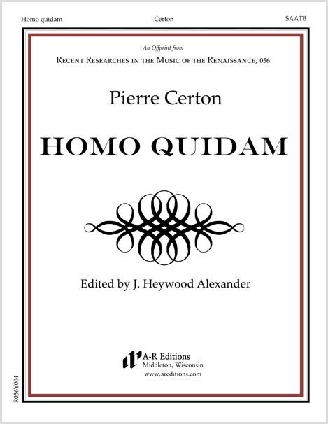 Certon: Homo quidam