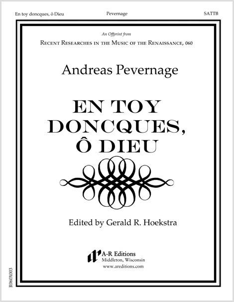 Pevernage: En toy doncques, ô Dieu