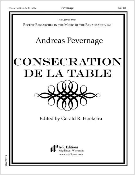 Pevernage: Consecration de la table