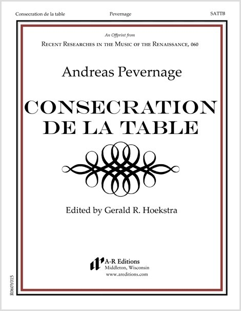 Pevernage: Consecration de la table