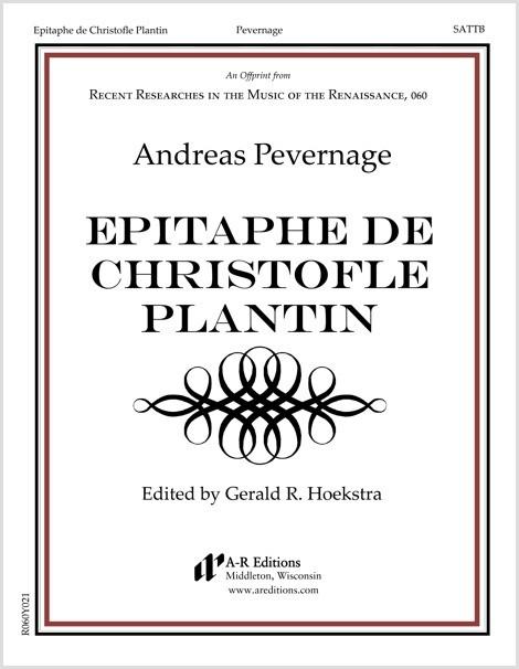 Pevernage: Epitaphe de Christofle Plantin