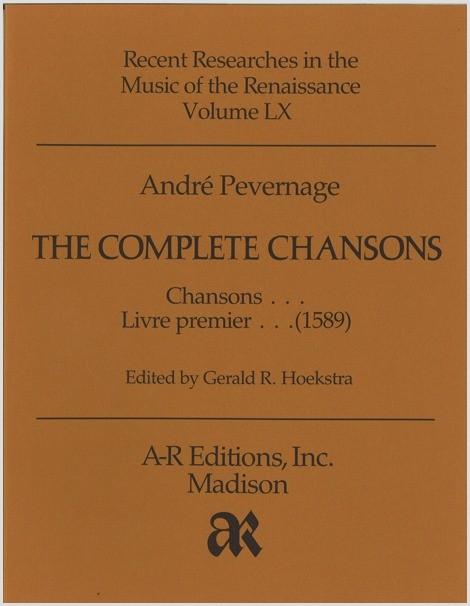 Pevernage: Chansons, livre premiere