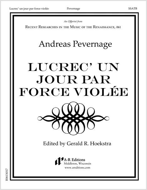 Pevernage: Lucrec' un jour par force violée